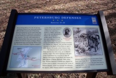 Petersburg Defenses CWT Marker image. Click for full size.