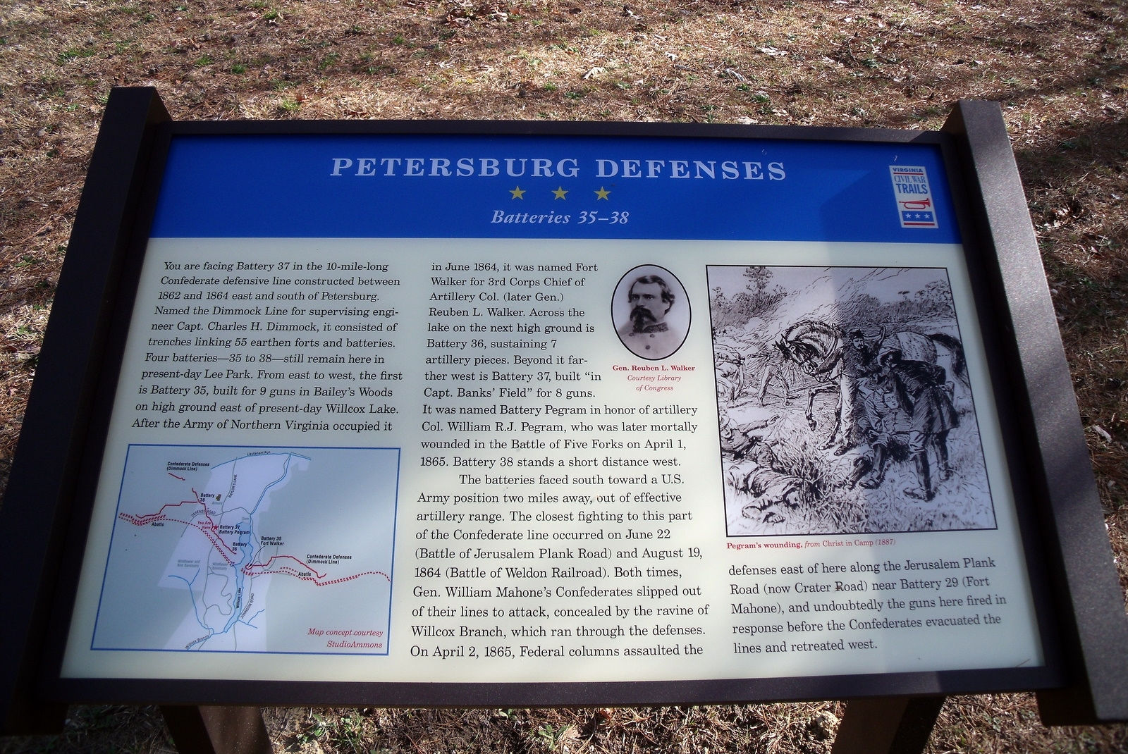 Petersburg Defenses CWT Marker