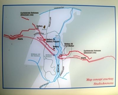 Map of the Dimmock Line in the vicinity of Lee Park. Photo, Click for full size
