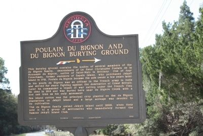Poulain DuBignon and the DuBignon Burying Ground Marker Photo, Click for full size