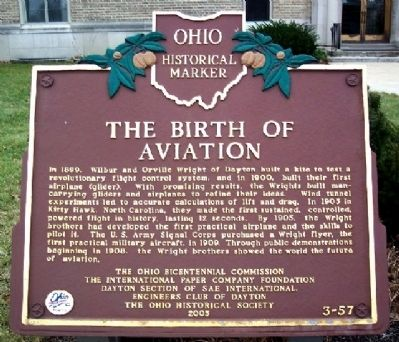 The Birth of Aviation Marker Photo, Click for full size