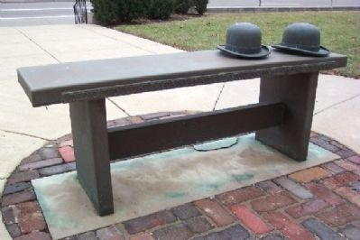 Orville and Wilbur Wright Bench Photo, Click for full size