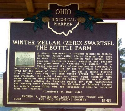 Winter Zellar (Zero) Swartsel / The Bottle Farm Marker (Side A) image. Click for full size.
