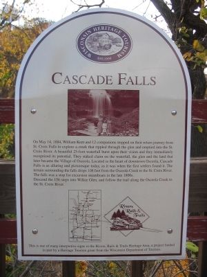 Cascade Falls Marker image. Click for full size.