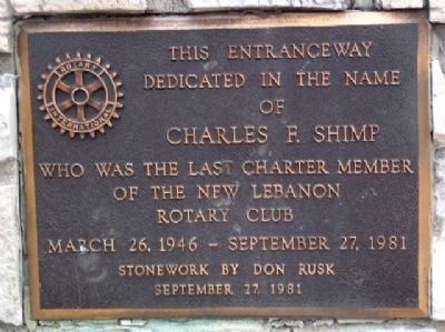 Charles F. Shimp Marker image. Click for full size.