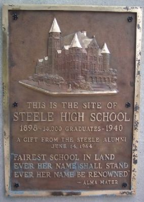 Steele High School Marker image. Click for full size.