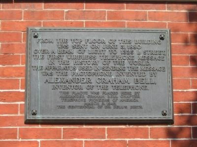 Alexander Graham Bell Marker Photo, Click for full size