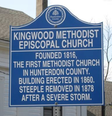 Kingwood Methodist Episcopal Church Marker image. Click for full size.