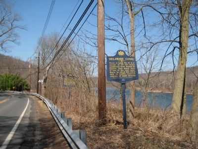 Delaware Canal & Pennsylvania Canal Marker image. Click for full size.