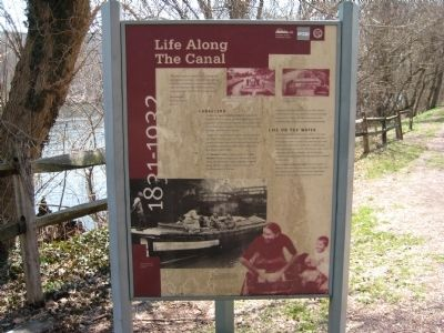 Life Along The Canal sign at Treasure Island Reservation image. Click for full size.