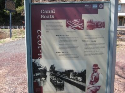 Canal Boats sign at Treasure Island Reservation image. Click for full size.