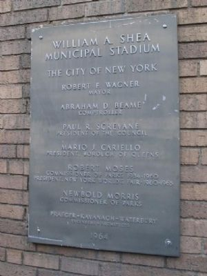 William A. Shea Municipal Stadium Marker image. Click for full size.