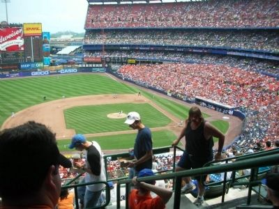 View of Interior of Shea Stadium from Mezzanine Section 12 Row E Seat 1 image. Click for full size.
