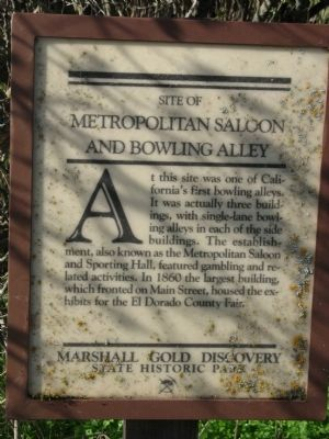 Metropolitan Saloon and Bowling Alley Marker image. Click for full size.