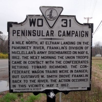 Peninsular Campaign Marker image. Click for full size.
