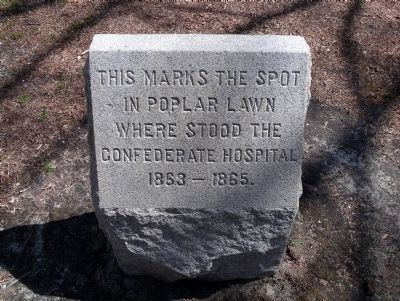 Confederate Hospital Marker. image. Click for full size.