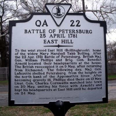 Battle of Petersburg Marker Photo, Click for full size