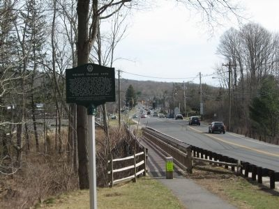 View of marker on Main Street to the South image. Click for full size.