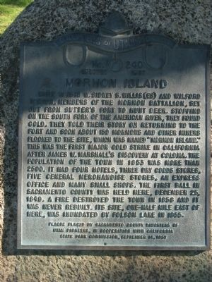 Mormon Island Marker Photo, Click for full size