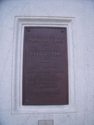 Post Office Plaque. image. Click for full size.