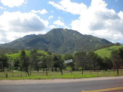 View of North Peak of Mount Diablo from Marsh Creek Springs Photo, Click for full size