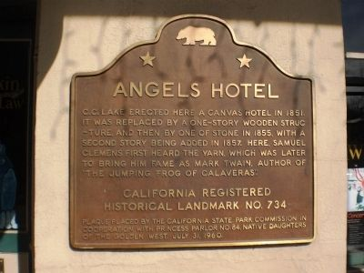 Angels Hotel Marker image. Click for full size.