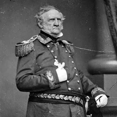 Gen. Winfield Scott, ca. 1860 - ca. 1865. <i>National Archives 528333</i> image. Click for full size.