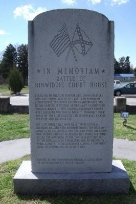 Battle of Dinwiddie Court House Marker image. Click for full size.