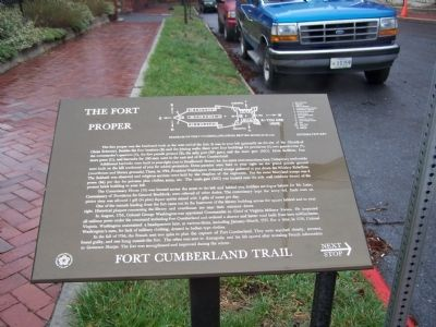 The Fort Proper Marker image. Click for full size.