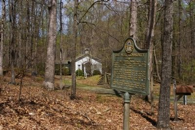 Due West Community Marker and the rebuilt Gilgal Church image. Click for full size.