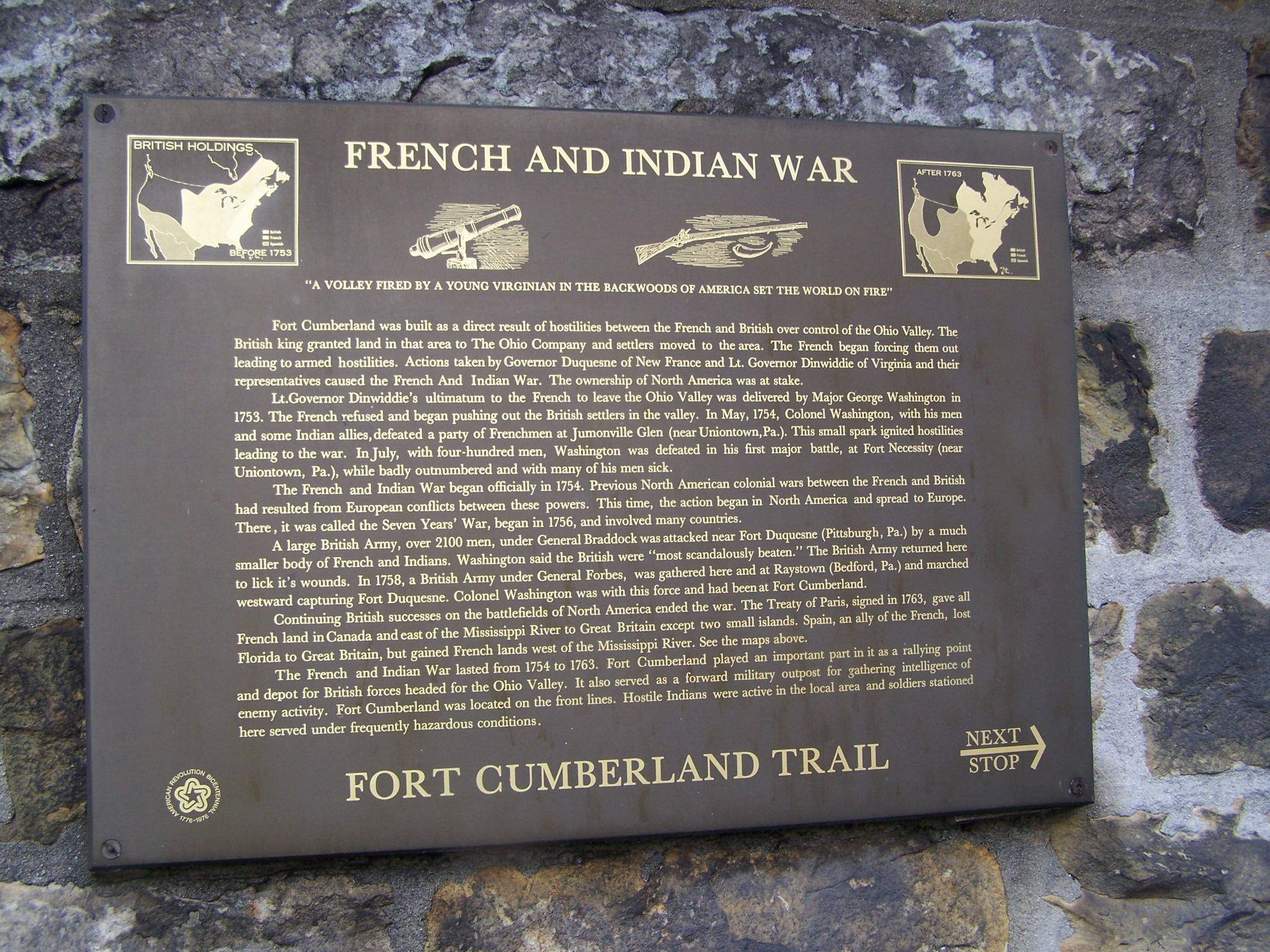 French and Indian War Marker