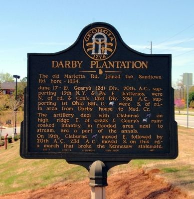 Darby Plantation Marker image. Click for full size.