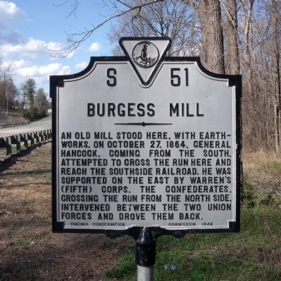 Burgess Mill Marker image. Click for full size.