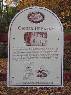 Geiger Brewery Marker image. Click for full size.