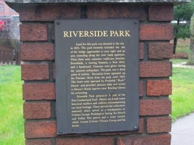 Riverside Park Marker Photo, Click for full size