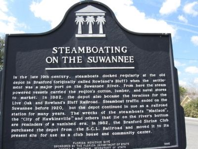 Steamboating on the Suwannee Marker Photo, Click for full size