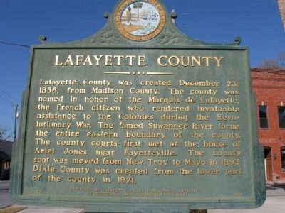 Lafayette County Marker image. Click for full size.