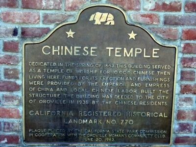 Chinese Temple Marker Photo, Click for full size