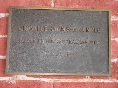 Oroville Chinese Temple Photo, Click for full size