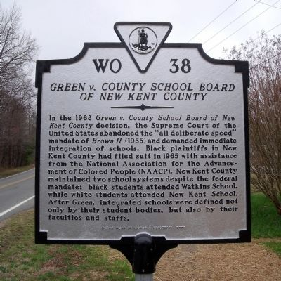 Green v. County School Board of New Kent County Marker image. Click for full size.