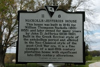 Nuckolls-Jefferies House Marker Photo, Click for full size