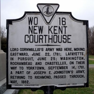 New Kent Courthouse Marker image. Click for full size.