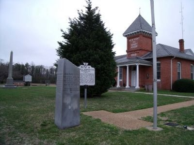 John Parke Custis and Martha Dandride marker at New Kent County Courthouse. image. Click for full size.