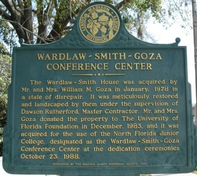 Wardlaw-Smith-Goza Conference Center Marker image. Click for full size.