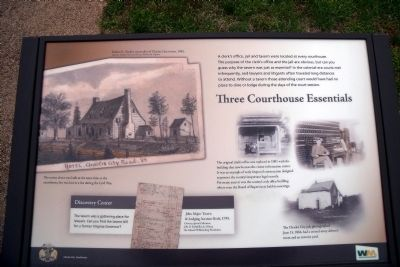 Three Courthouse Essentials Marker Photo, Click for full size