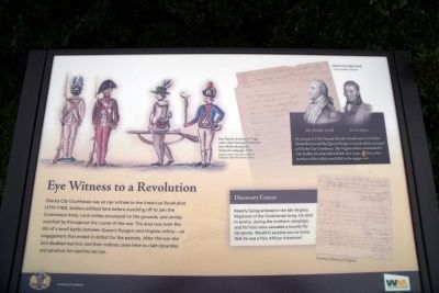 Eye Witness to a Revolution Marker image. Click for full size.