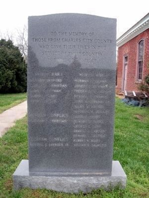 Charles City County War Memorial. image. Click for full size.