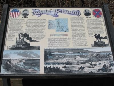 The Battle of Belmont Marker Photo, Click for full size
