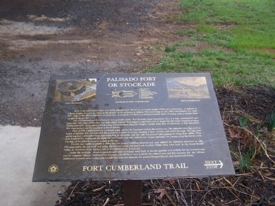 Palisado Fort or Stockade Marker Photo, Click for full size