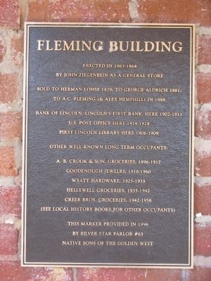 Fleming Building Marker Photo, Click for full size